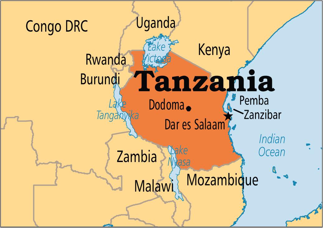 Dar Es Salaam Map Tanzania - Where is tanzania